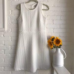 Loft braid cream midi dress size 6 beautiful